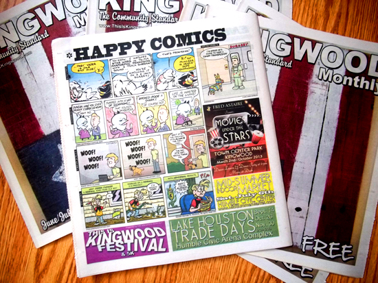 Happy Comics page newspaper
