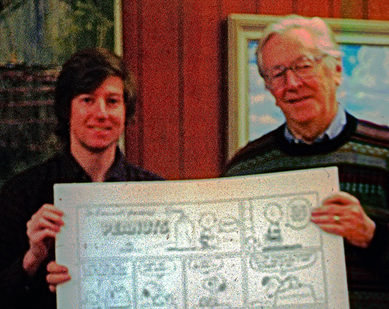 Charles Schulz and Russel Harvey