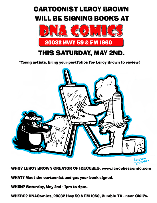 ICECUBES comic book signing