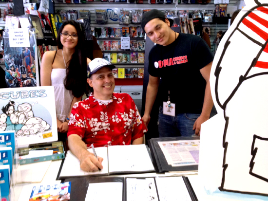 ICECUBES the comic strip book signing